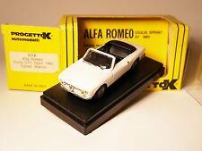 ALFA ROMEO GIULIA GTC (1965) in bianco Blanc Bianco White, progetto in 1:43 Boxed!