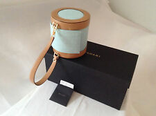 BULGARI B ZERO 1 HANDBAG WITH DETACHABLE HANDLE LIGHT BLUE /GOLD PRINTED DENIM