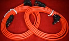RED SATA 2 DATA CABLE STRAIGHT TO RIGHT ANGLED LOCKING PLUGS 0.9M LONG PACK OF 2