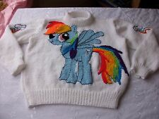 My little pony jumper knitting pattern DK. In 6 sizes. girls pullover.