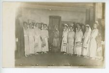 Antique VERMONT Photo -- Greensboro -- Religious Play Costumes RPPC ca. 1908