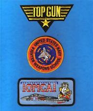 TOP GUN Maverick US NAVY Fighter Weapons School TOMCAT Sew Iron PATCH SET 3 Pcs