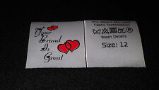 50 Sew In Garment Labels Handicraft Labels Care Labels