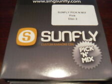 SUNFLY KARAOKE DISC PICK N MIX PINK PART 2 CD+G 12 TRACKS