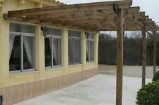 lean to pergola, solid treated timber, outdoors, carport, garden, shade