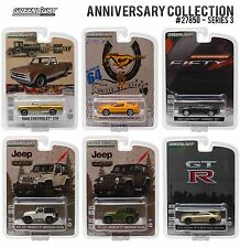 1:64 GreenLight 2016 *ANNIVERSARY COLLECTION 3* SET of 6 CHANCE AT GREEN MACHINE