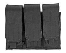 Black MOLLE Triple Mag Pouch M4 M16 AR-15 AK-47 Gun Magazine Holster Holds 6 NEW