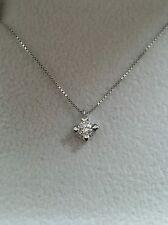 collana girocollo punto luce oro bianco 18kt diamante 0,20 ct - Comunione regalo