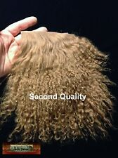 M01114 MOREZMORE Tibetan Lamb Fur TOFFEE BROWN Seconds Doll Baby Hair Wig A60