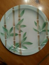 "SYRACUSE CHINA BAMBOO DINNER PLATE 9"" RESTAURANTWARE VINTAGE TROPICAL"