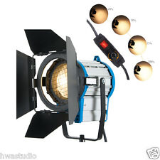 Hwastudio ® 1000W dimmer costruita in Fresnel tungsteno Luce Spot Video + LAMPADINA + Barndoor