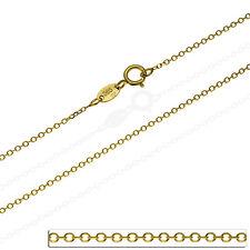 Goldkette Rund Ankerkette Massiv Echt Gold 585 14Kt Damen Unisex Gelbgold 40cm