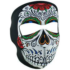 NEW Zan Headwear Muerte Sugar Skull Neoprene Full Face Biker Motorcycle Mask