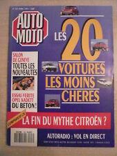 AUTO MOTO n° 103/avr 1991 Les 20 voitures les moins chères. MOTO BOCCARDO DIESEL