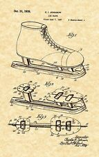 Patent Print -Vintage Ice Hockey Skates 1939 Art Print. Ready To Be Framed!
