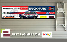 Mini 1275GT Rally Car Banner for Workshop, Garage, British Leyland, RAC Rally