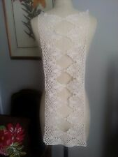 "27"" Long Back or Front NECKLINE Crochet Applique Corset Style - IVORY"