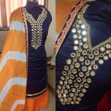 Exclusive Mirror Hand work Semistiched Dress Material