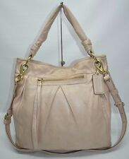 Coach Parker Hippie Large Pleated Leather Slim Crossbody Convertible Bag 13411