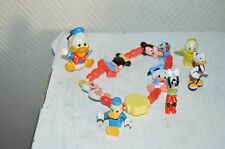LOT 6 PIECES 5 FIGURINE DONALD DAISY PLUTOT + 1 COLLIER MICKEY DISNEY