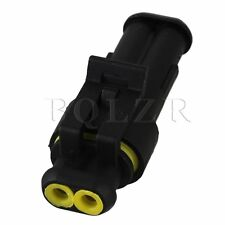 5 Set 2 Pin Car Motorcycle Electrical Wire Cable Connector Plug Waterproof