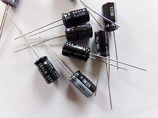 lote de 5 condensadores químicos electrolíticos 10uf 100v NICHICON