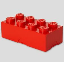 Lego Brick Lunch Box 8 RED Snack Food Container Lunchbox Small Storage Plastic