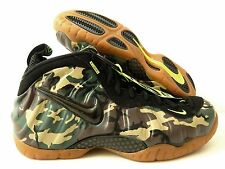 "NIKE AIR FOAMPOSITE PRM LE ""GREEN ARMY CAMO"" FOREST-BLACK SZ 10.5 [587547-300]"