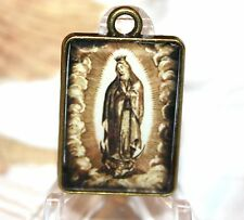 Custom Rosary Medal Part/Color/Rosary Making/Our Lady of Guadalupe/Vintage Repro