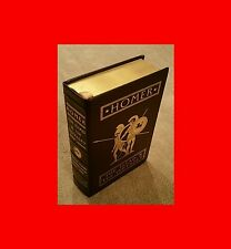 ☆BEAUTIFUL%RARE LEATHER BOUND 22K GOLD-EDGED BOOK:HOMER-THE ILIAD+ODYSSEY;TROY!<