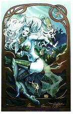 "LADY DEATH ZODIAC ART PRINT ""PISCES""  Signed Brian PULIDO and Nei RUFFINO"