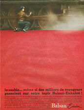 Publicité Advertising 1965  Tapis Balsan Enkalon indestructible !!