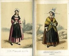 Antique French Prints, TraditionalWomen's Costumesfrom Normandy, 15 Prints