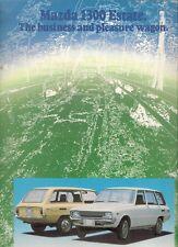 Mazda 1300 Estate 1974-75 UK Market Sales Brochure Familia
