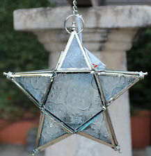 Rustic Style  Hanging Tea Light Star  Candle Holder  ( Silver )  BRAND NEW