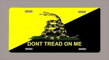"""""""DON""""T TREAD ON ME"""" yellow/black 2nd amendment license plate- FREE SHIPPING"""