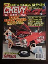 Chevy High Performance August 1994 Easy Backyard How-To Camaro Hop Up (QQ)