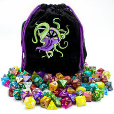 New Wiz Dice Bag of Devouring: 140 Polyhedral Dice in 20 Complete Sets DND RPG
