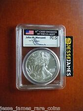 2012 W BURNISHED SILVER EAGLE PCGS MS69 VERY RARE IN FLAG MERCANTI SIGNED LABEL!
