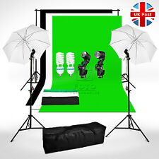 Photo Studio Background Lighting Kit Cotton Muslin White Black Green Backdrop UK