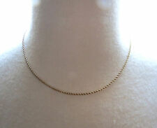 "Vintage 14k Yellow Gold Chain Necklace 3.86g 17"" Diamond Cut Rope Twist Pat No"