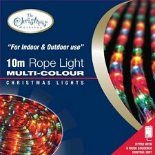 10M MULTI COLOURED ROPE LIGHTS INDOOR OUTDOOR GARDEN CHRISTMAS PARTY XMAS LIGHTS