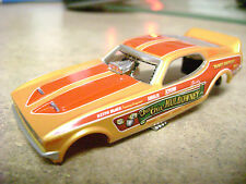 New Autoworld 1971 Mustang Cha Cha Muldowney Slot Car Body Run on Aurora AFX