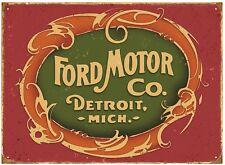 Ford Motor Detroit metal sign 410mm x 300mm  (rh)