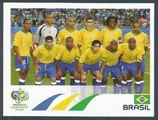 PANINI FIFA WORLD CUP-GERMANY 2006- #378-BRAZIL TEAM PHOTO