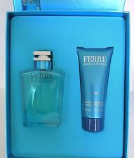Gianfranco FERRE Acqua Azzurra MEN GESCHENKSET 100ml EDT Spray + 100ml Duschgel