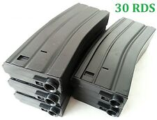 E&C 5 Pcs 30 Rounds 6mm Pellets Mag For Airsoft M Series Black (EC-MA006A)