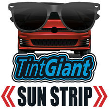 TINTGIANT PRECUT SUN STRIP WINDOW TINT FOR HYUNDAI ACCENT 4DR SEDAN 12-14