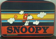 Vintage Peanuts Snoopy Flying Ace 3 Pcs. Nesting Luggage Suitcase Set New Rare