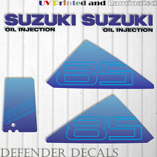 Suzuki 85 hp DT75 outboard engine decal sticker set kit reproduction 85HP